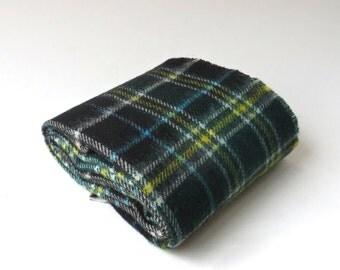 vintage Lochcarron Tartan Plaid Wool Scarf / Woven in Scotland