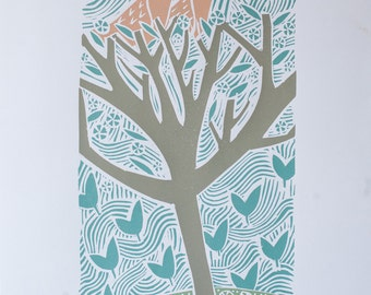 Spring limited edition screen print by Liz Toole