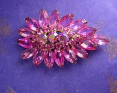 Reserved for Tony Vintage Juliana Brooch HUGE pink statement piece open back stones
