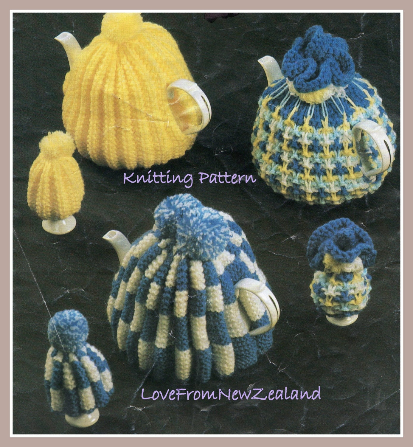 Tea Cosy Egg Cosy / Vintage Knitting Pattern by ...