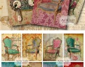 Printable Download TATTERED BEAUTY Gift Tags Digital Collage Sheet 2.5x3.5 inch size Jewelry Holders Vintage ephemera ArtCult artworks
