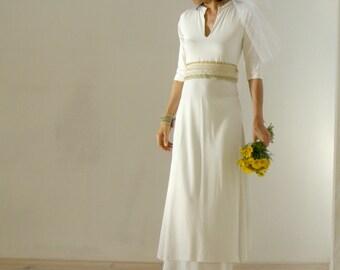 White wedding dress-Geometric white wedding gown dress-Maxi white dress set-Ethnic dress--Made to order