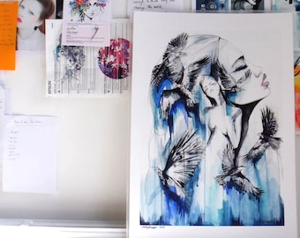 Soar // LIMITED EDITION Giclée print from an original watercolour by Holly Sharpe