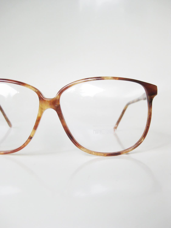 vintage 1970s eyeglasses tortoiseshell light honey brown