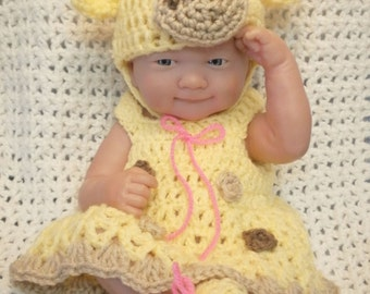 Clothes For 14 Inch Dolls.Giraffe Dress Set can be made to Fit Any Doll.