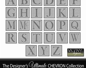 Chevron Alphabet SVG - Svg Gsd Eps Ai - Alphabet Cuttable SVG - Cricut Chevron Font - SVG Chevron Font - Chevron Monogram Font