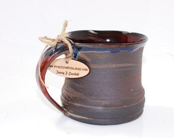Primitive Ceramic Black Mug 18 oz