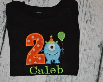 PERSONALIZED Monster Birthday Shirt or bodysuit  Monogrammed