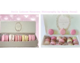 Paris Laduree Macarons Print Set, Paris Photography, Paris Kitchen Decor, Paris Food Photography, Paris Laduree Macarons Prints, Laduree Art