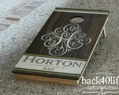 Monogram Cornhole (The Horton) (CH-001e)- wedding & reception