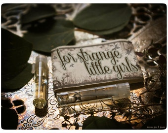 for strange little girls - natural perfume oil twin vial mini pack - primary notes: cucumber and green tea