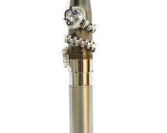 Ecig Electronic Cigarette Charm Silver Snake