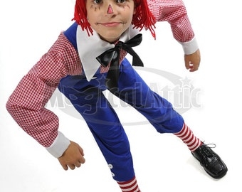 Custom Boutique Halloween RAGGEDY ANDY Boys Size Costume Set