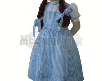 Custom Boutique DOROTHY of Wizard of Oz Girl Size Costume Dress
