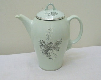 SALE - Vintage Lady Empire Permacal Lily of Valley Coffee Pot