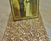 Sequin Champagne Table Runner Various Sizes Gold and Silver Available