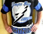 Tampa Bay Lightning 1994 jersey vintage t-shirt size X-large