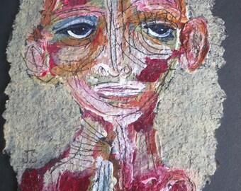 Original Mixed Media Tar Paper Painting Series by Julie Steiner