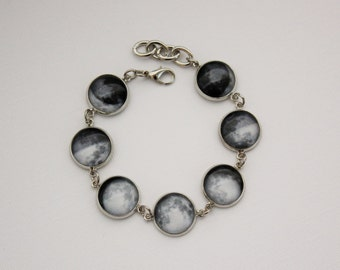 Moon Phase Bracelet. Space Jewelry. Gift for her under 30 usd