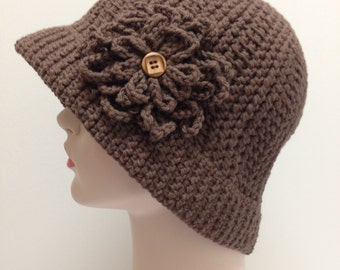 Sun Hat, CHEMO HAT, Great gift for chemo patients, Brown hat