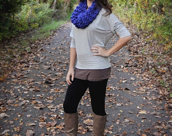 The Mini Chunky Cowl in Cobalt Blue - Fall, Holiday Specials, Acessories