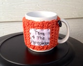 Ready to ship Time for the percolator cup cozy, crochet mug cozy