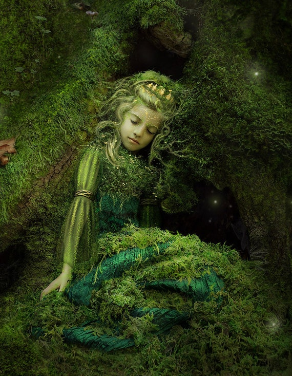 Forest Treasure by Susan Schroder Dryad Mythic Fantasy art