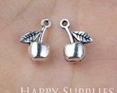 10pcs Antiqued Silver Apple Charm / Pendant (11610)