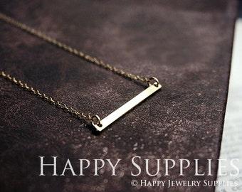 10pcs Nickel Free -High Quality Raw Brass long bar Charm (Chain Optional) (ZG111)