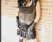 Vest - Under Bust Vest - Steampunk - Burning Man - Bohemian - Festival Clothing - Tweed - Gypsy Vest - Victorian - Size Small