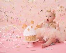 Baby Girls Cake Smash Outfits, Pink Birthday Dress