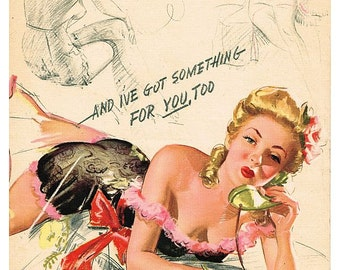 antique pinup illustration lingerie DIGITAL DOWNLOAD