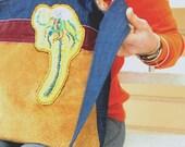 Tote Denim Embroidered Spring Dandelion Tote - Large Cross Body Bag