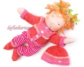 AnnaCarla - Waldorf doll baby 14 in doll, ready to go ginger curly hair