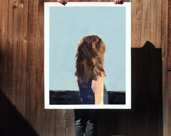 Calm .  extra large wall art . giclee print