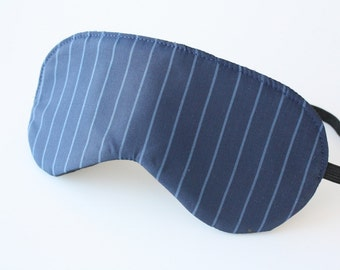 Navy Blue Sleep Mask / Eye Mask - Mens Stocking Stuffer - Father's Day Gift