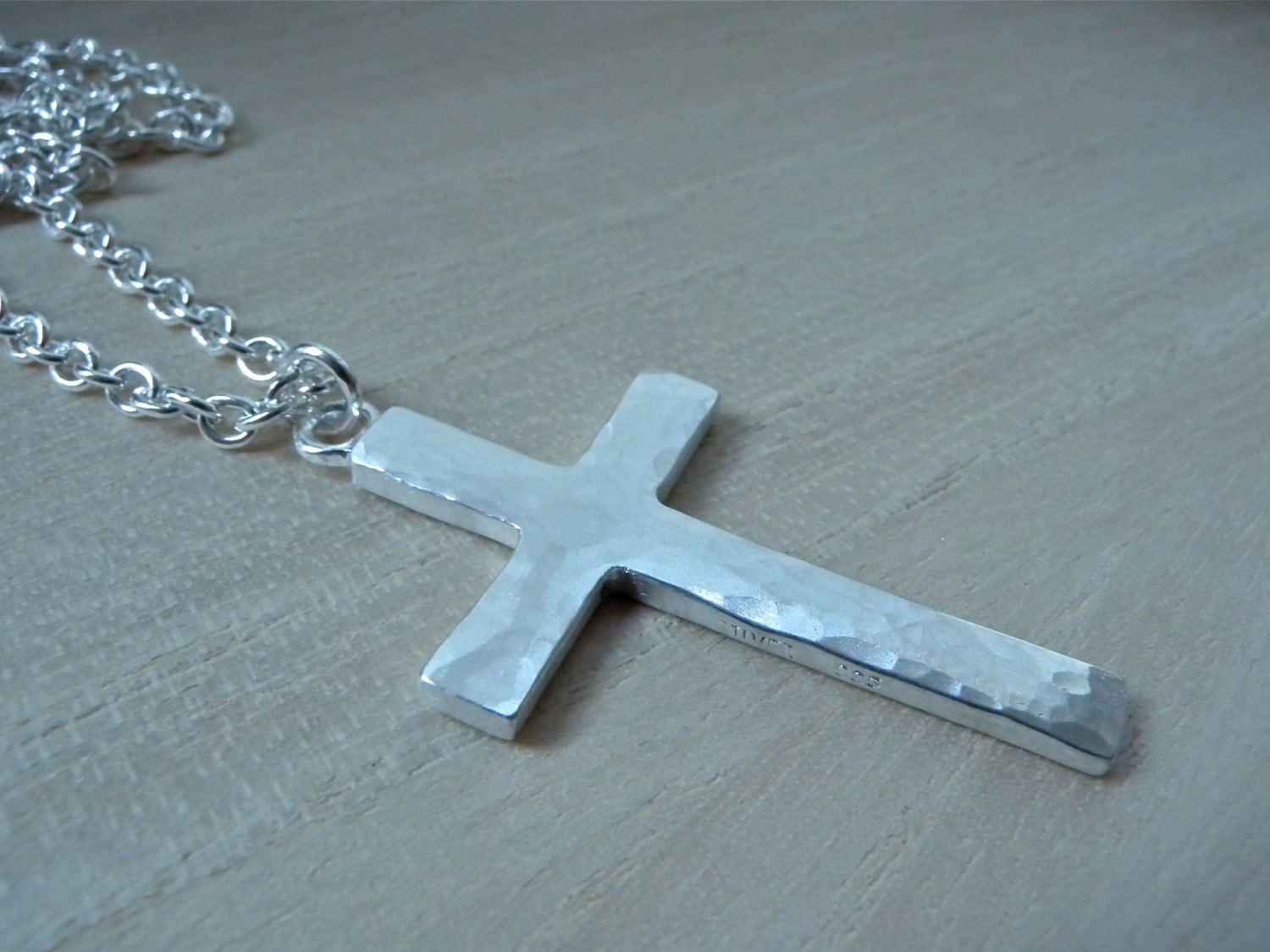 large cross necklace sterling silver mens cross pendant. Black Bedroom Furniture Sets. Home Design Ideas