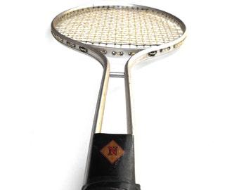 1970s Badminton Tennis Racket Vintage Retro Japan N Monogram Diamond Jock Gift Japanese Aluminum Handle Nostalgic Sports Home Decor Wall Art
