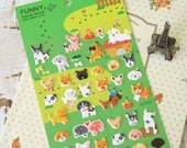 Funny Sticker World PUPPY Dog embossed deco puffy stickers
