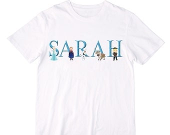 Personalized Frozen Shirt or Bodysuit with Adorable Characters - Personalized with ANY name