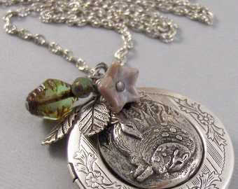 Little Fawn,Deer,Deer Locket,Silver Locket,Silver Necklace,Deere,Dear,Silver,Woodland,Antique Locket.Deer Necklace,Deer  valleygirldesigns.