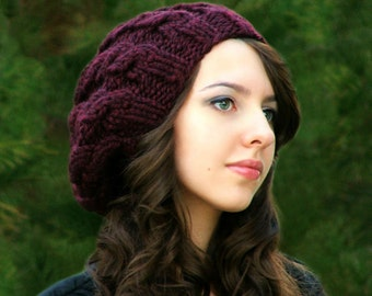 Knitting PATTERN-The Slouch Cables Hat