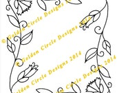 Corner Vines - Crewel Hand Embroidery Pattern