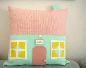 House Pillow -  Mint Avenue - Pillow Cover - Decorative Pillow