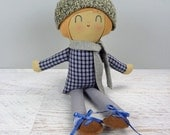 Hendrik, handmade doll, boy gift, birthday gift, rag doll