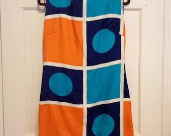 1960s Silk Mod Geometric Mini Dress