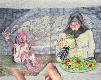 Healthy Dungeon Master original art by Matt Furie