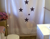 southern cross Shower Curtain star constellation pattern south hemisphere sky bathroom decor kids bath curtains custom size long wide