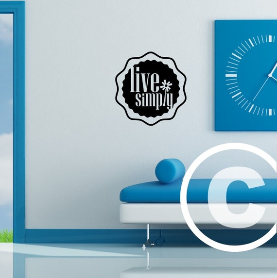 Vinyl wall decal live simply wall decor b99 for Live simply wall art