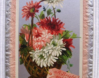 Vintage Postcard  - Bright & Happy New year
